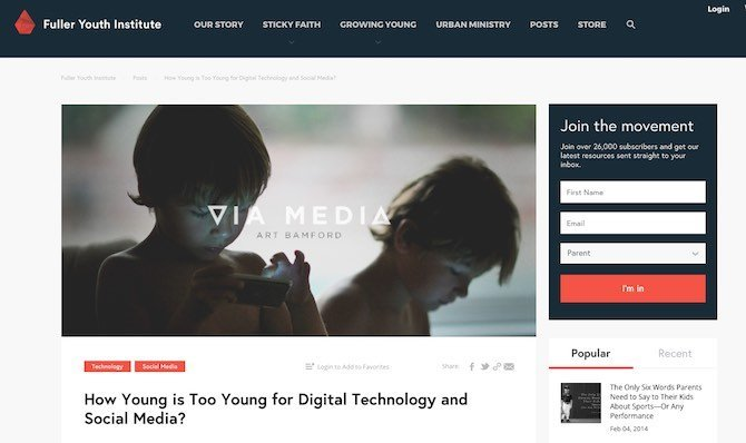 VIA MEDIA: How Young is Too Young for Digital Technology and Social Media?