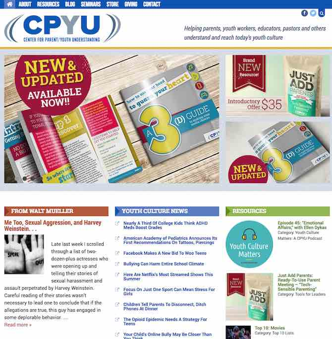 CPYU: Center for Parent / Youth Understanding