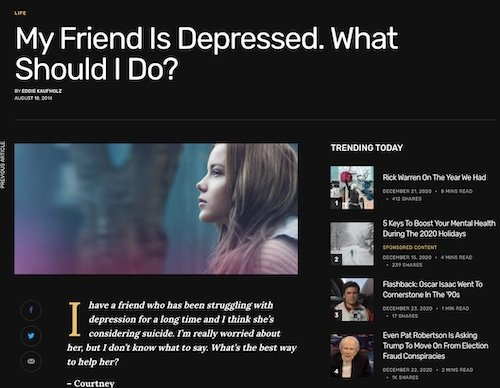 My friend is Depressed. What should I do?