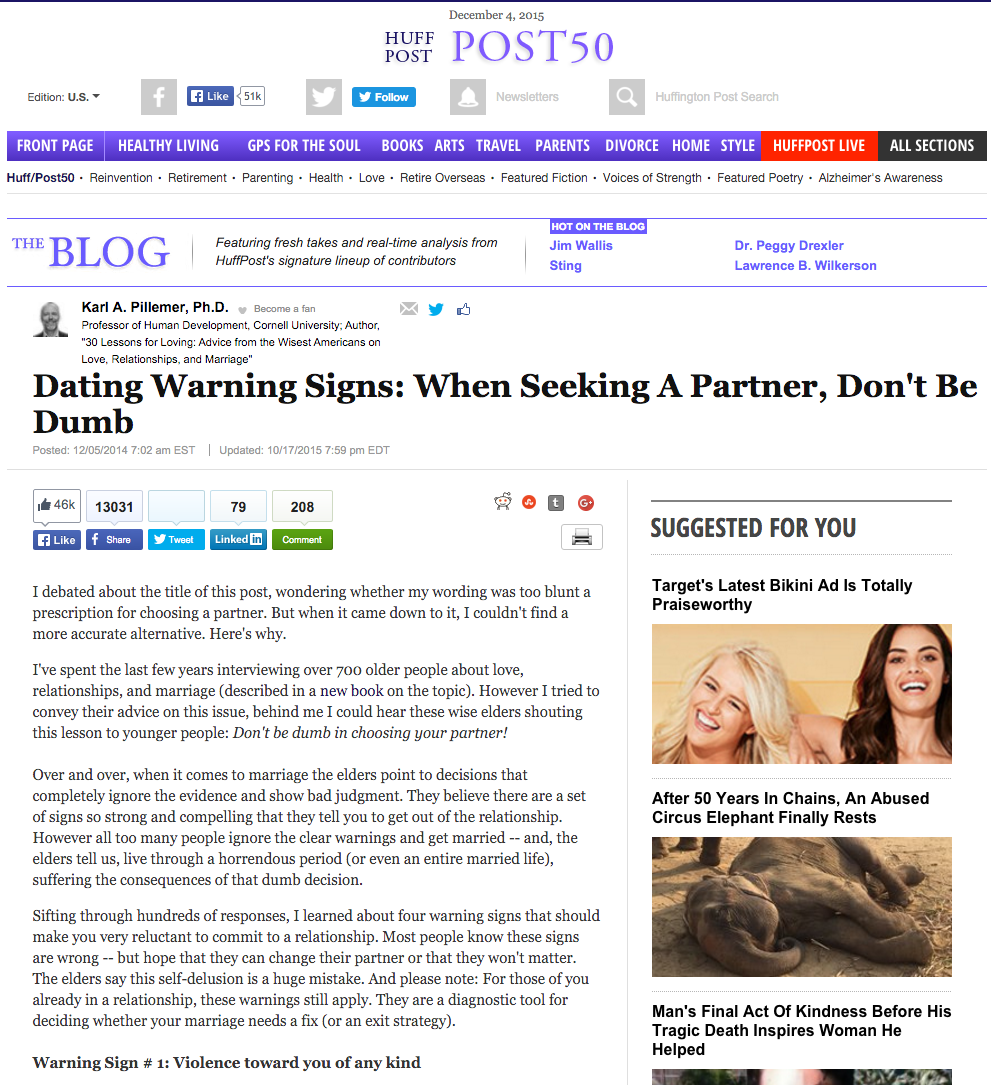Dating Warning Signs: When Seeking A Partner, Don't Be Dumb