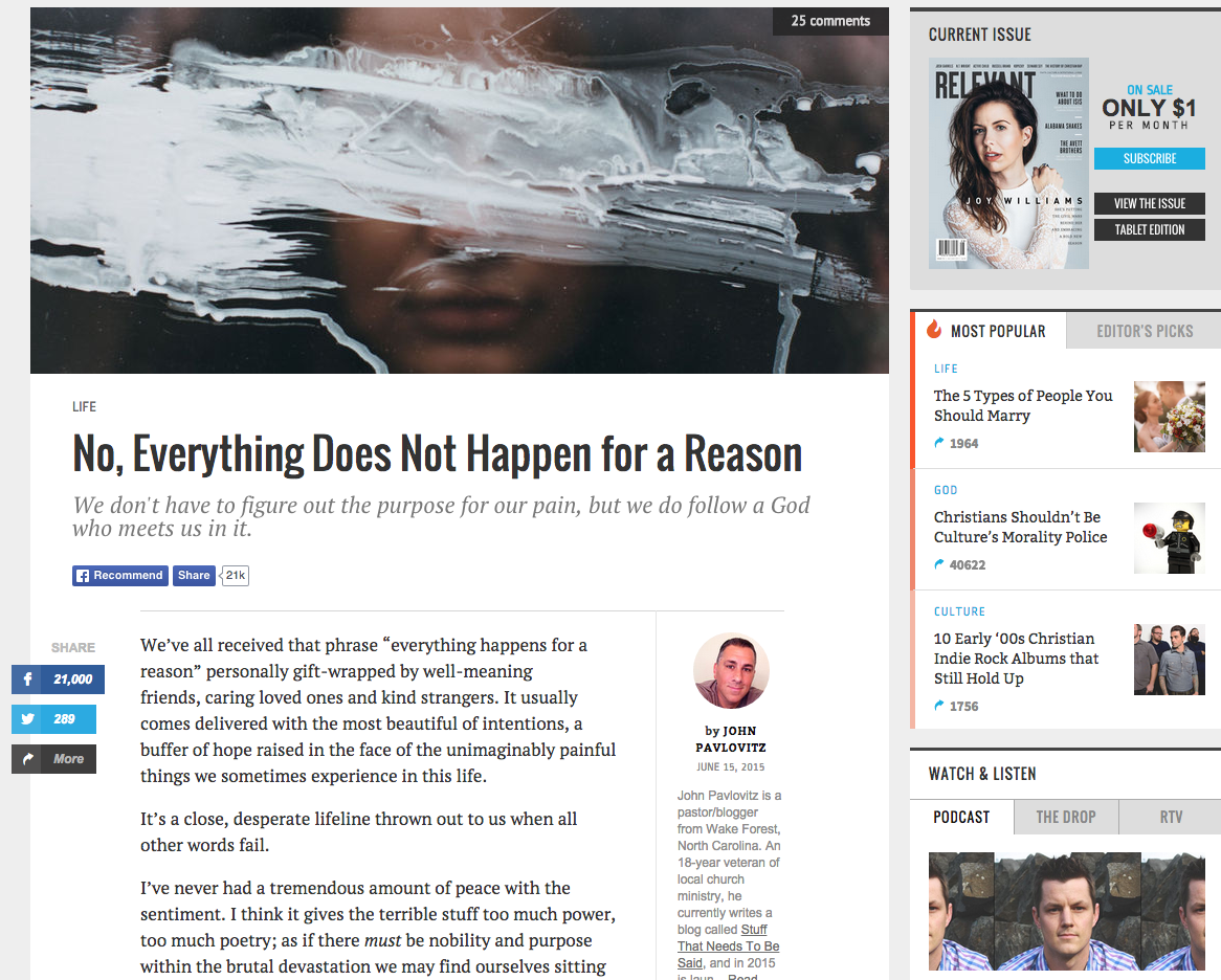No, Everything Does not Happen for a Reason