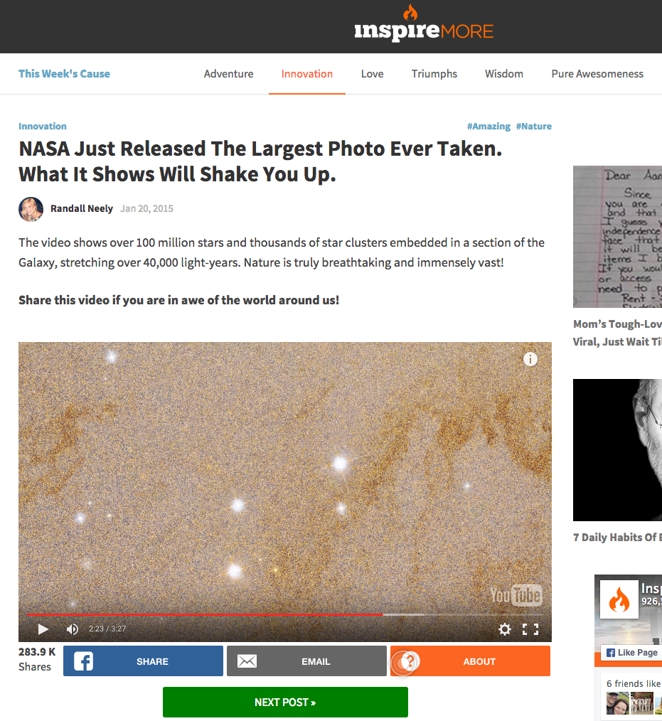 NASA Just Released The Largest Photo Ever Taken. What It Shows Will Shake You Up.