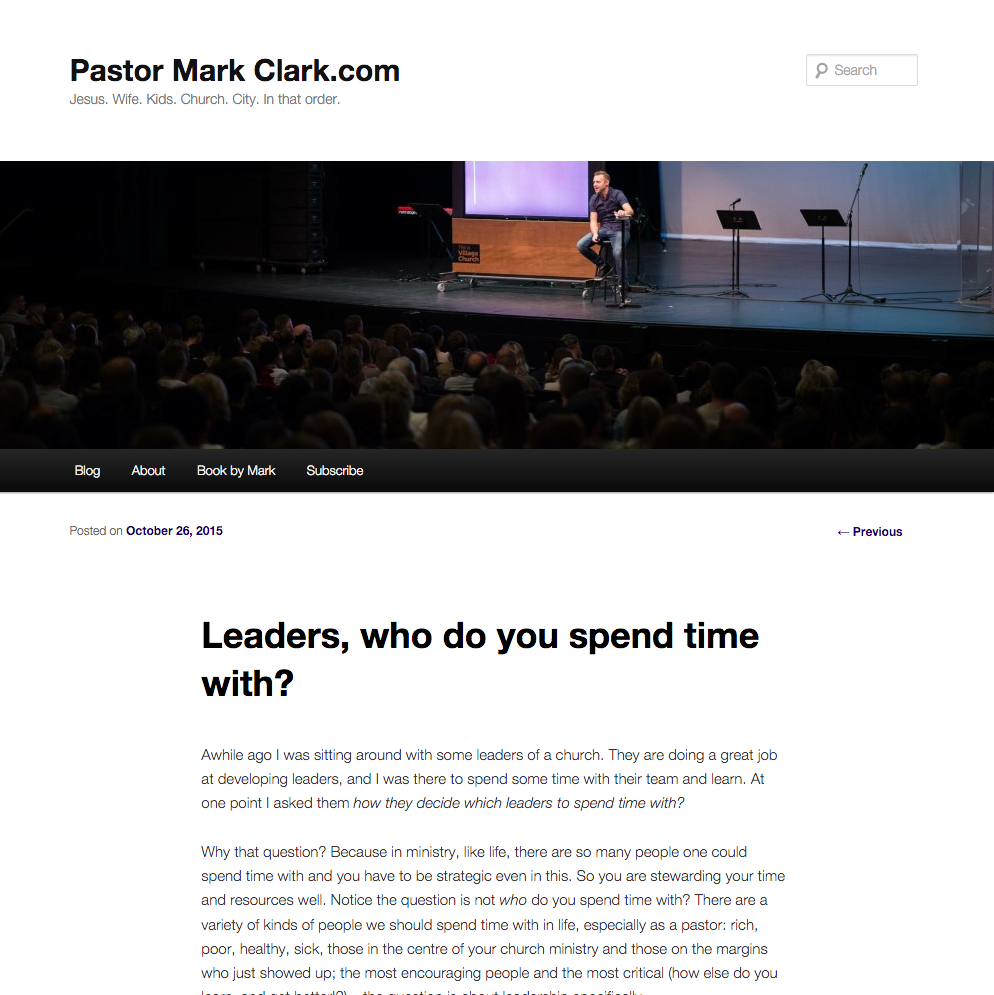Mark Clark – Leaders, who do you spend your time with?
