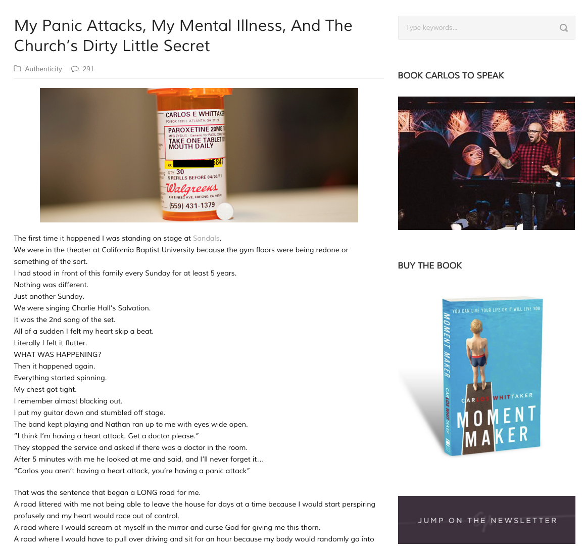 My Panic Attacks, My Mental Illness, And The Church's Dirty Little Secret