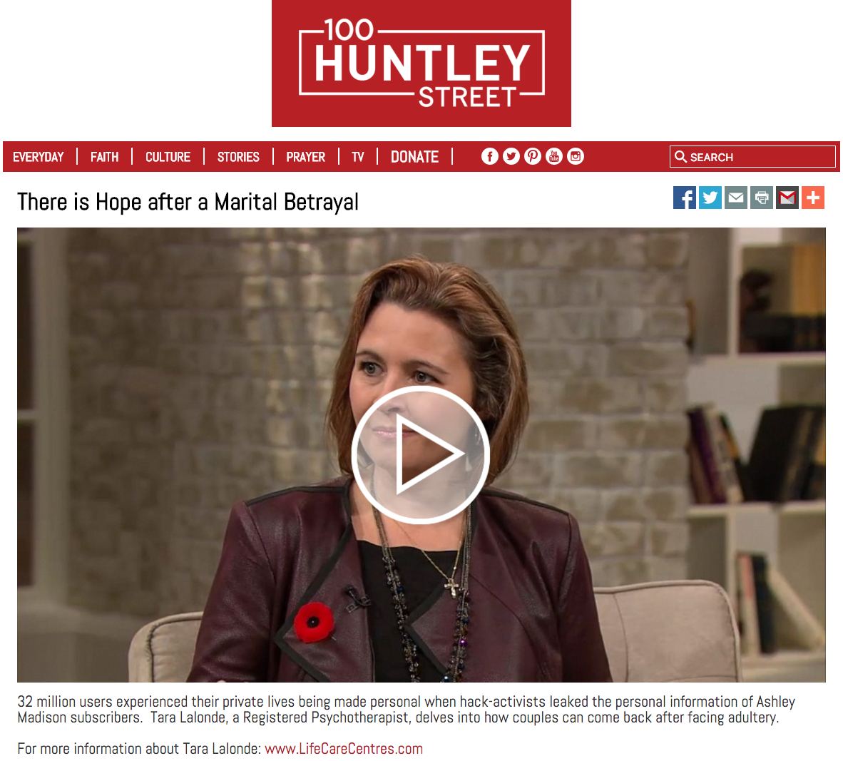 100 Huntley Street: There is Hope after a Marital Betrayal