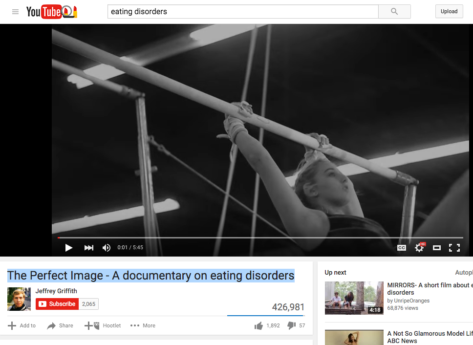 The Perfect Image – A documentary on eating disorders