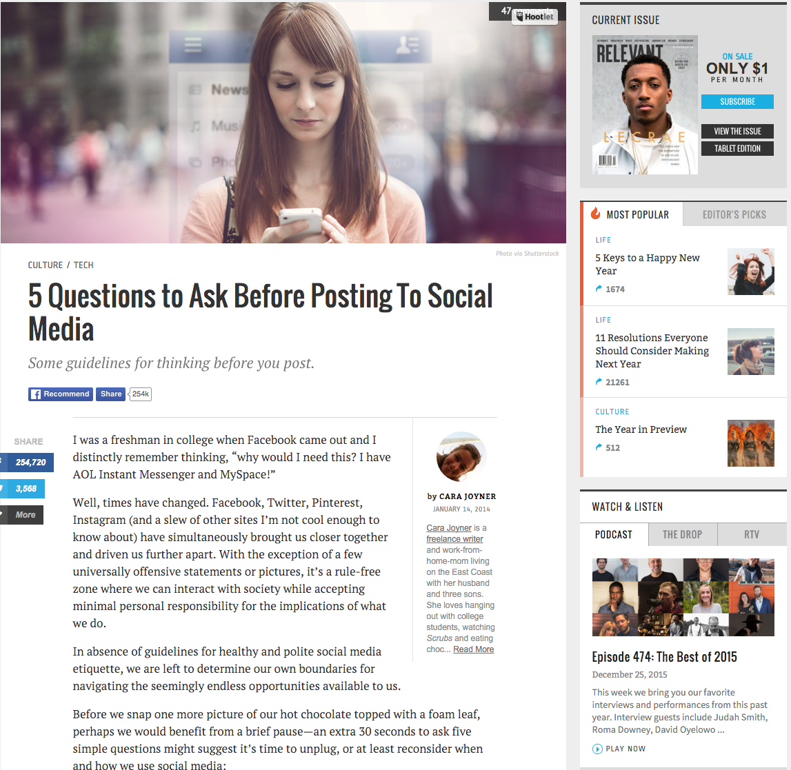 5 Questions to Ask Before Posting To Social Media