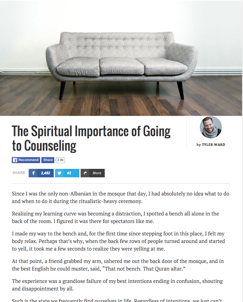 The Spiritual Importance of Going to Counseling