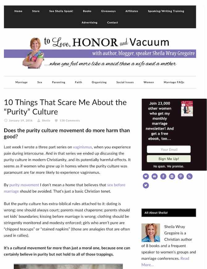 "10 Things That Scare Me Abuut the ""Purity"" Culture"