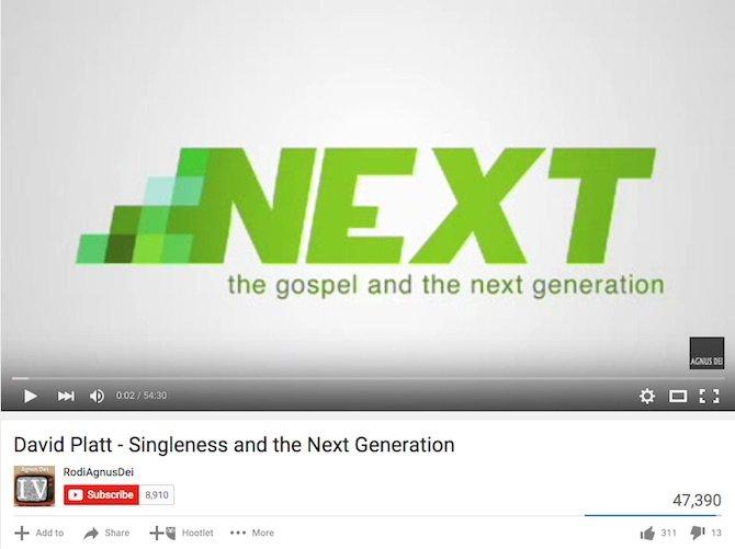 David Platt – Singleness and the Next Generation