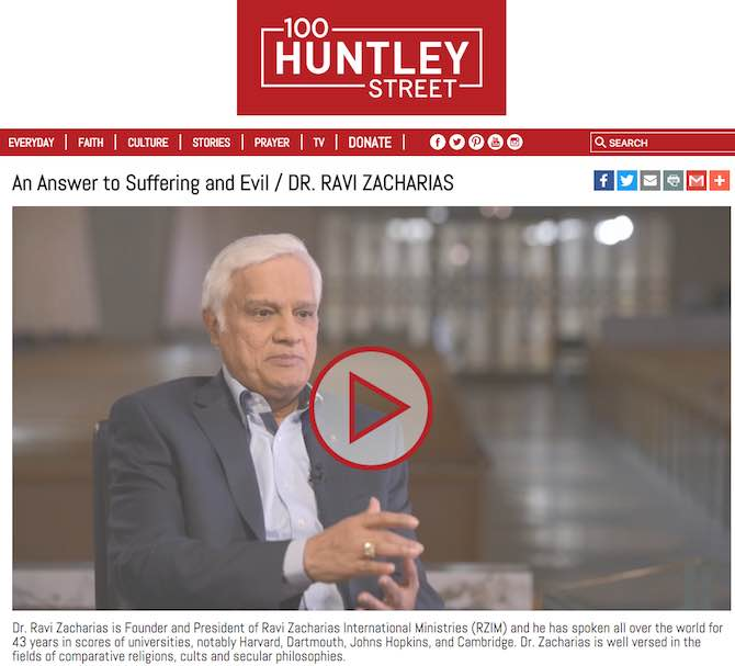 An Answer to Suffering and Evil / DR. RAVI ZACHARIAS