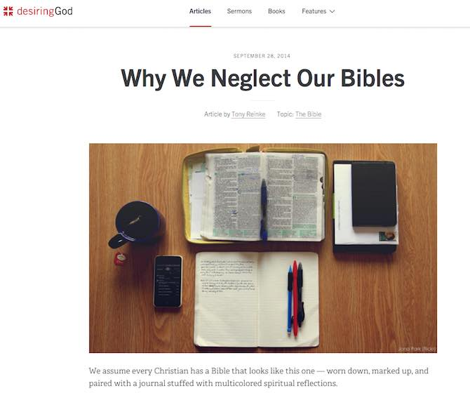 Why We Neglect Our Bibles
