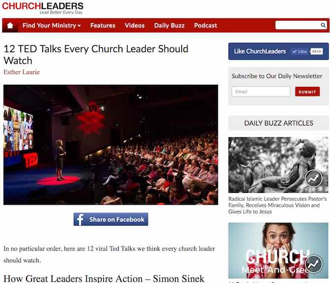 12 TED Talks Every Church Leader Should Watch