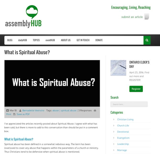 What is Spiritual Abuse?