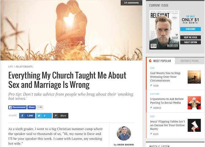 Everything My Church Taught Me About Sex and Marriage is Wrong