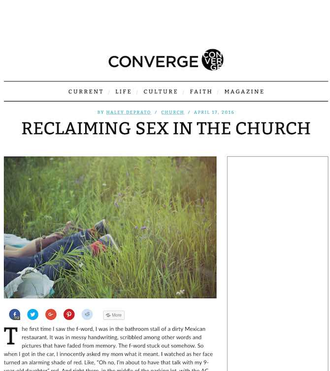 Reclaiming Sex in the Church