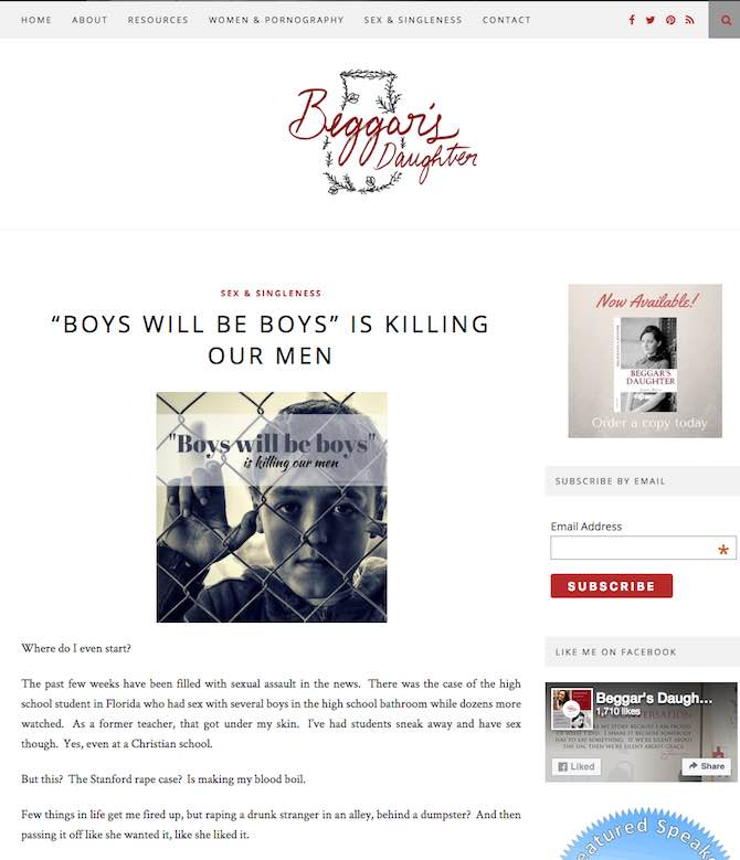 """""""Boy's Will be Boys"""" Is Killing our Men"""