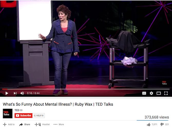 What's So Funny About Mental Illness? | Ruby Wax | TED Talks