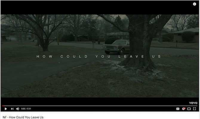 Great Music Video: NF: How Could You Leave Us