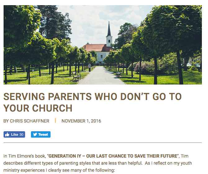 Serving Parents Who Do Not Go To Your Church