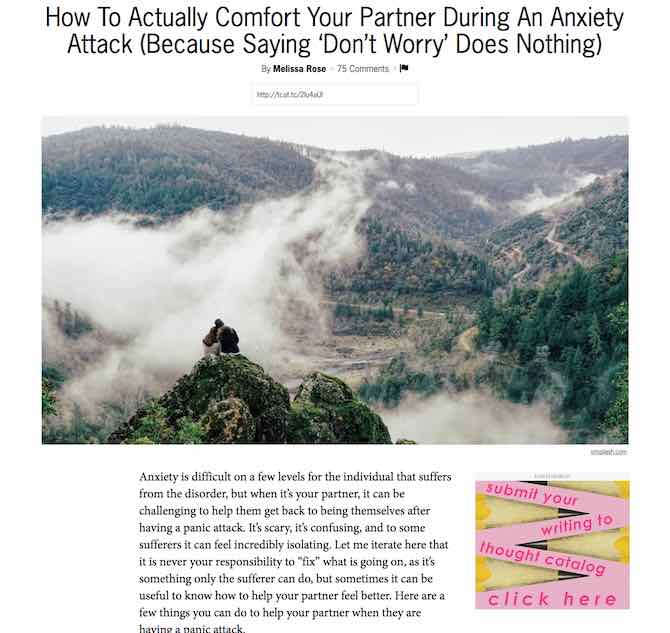 How To Actually Comfort Your Partner During An Anxiety Attack (Because Saying 'Don't Worry' Does Nothing)