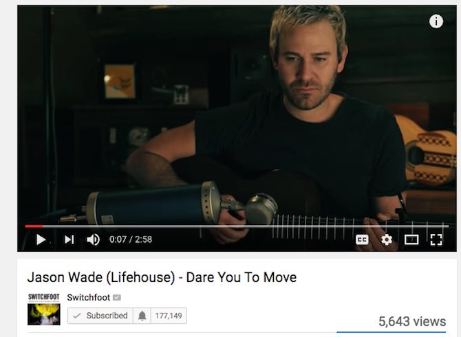 Jason Wade (Lifehouse) – Dare You To Move