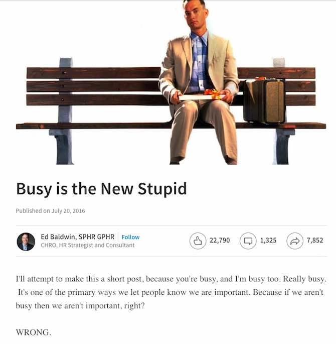 Busy is the New Stupid