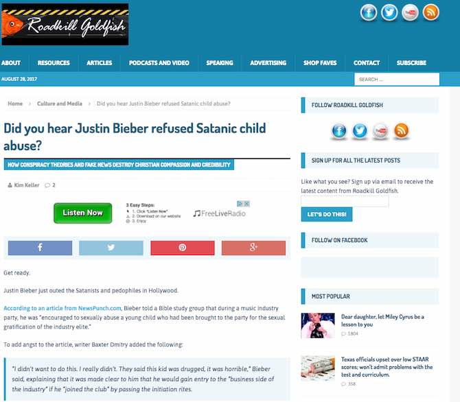 Did you hear Justin Bieber refused Satanic child abuse?