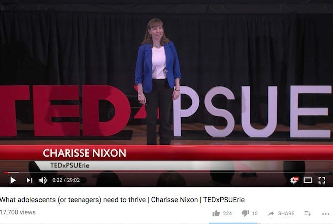 What adolescents (or teenagers) need to thrive | Charisse Nixon | TEDxPSUErie