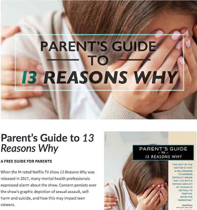 Parent's Guide to 13 Reasons Why