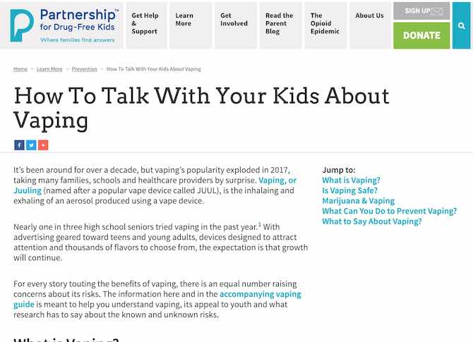 How To Talk With Your Kids About Vaping