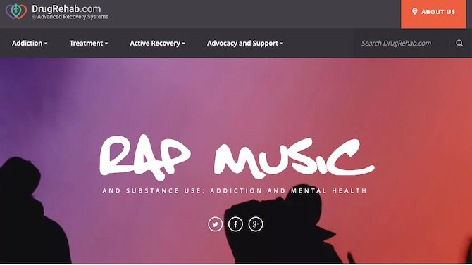 Rap Music and Substance Use: Addiction and Mental Health