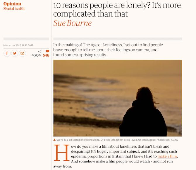 10 reasons people are lonely? It's more complicated than that