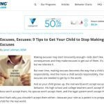 Excuses, Excuses: 9 Tips to Get Your Child to Stop Making Excuses