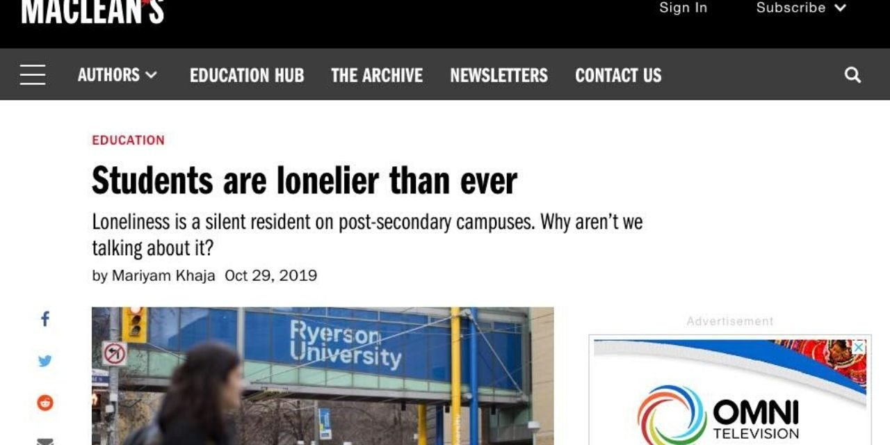 Students are lonelier than ever