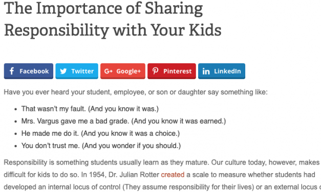 The Importance of Sharing Responsibility with Your Kids