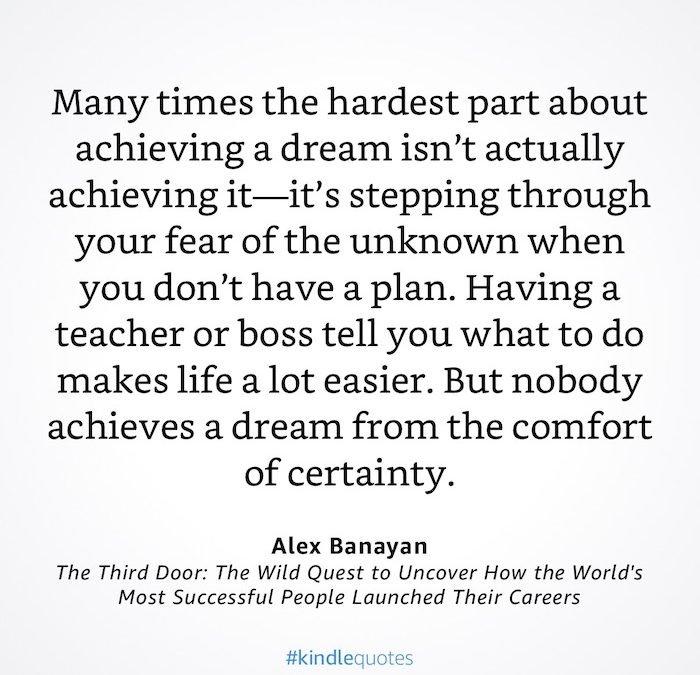 GREAT QUOTE: Alex Banayan – The Third Door