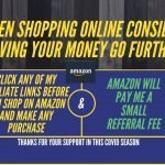 When shopping online consider having your money go further