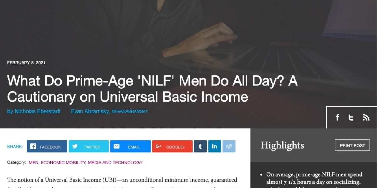 What Do Prime-Age 'NILF' Men Do All Day?